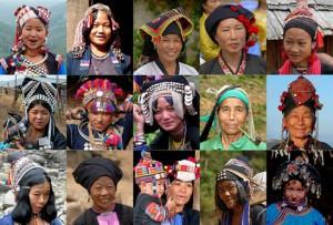 Verschiedene ethnische Gruppen in der Provnz Phongsaly. Die Ethnien unterscheiden sich nicht nur durch Kleidung, sondern auch Sprache und Kultur Quelle: http://www.tourismlaos.info/phongsaly/Ethnic_Diversity.html