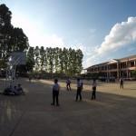 Schüler während der activity time von täglich von 15-16 Uhr