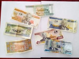 Der Gründer und lange Zeit Generalsekrtär der Laotischen Volspartei, Kaysone Phomvihane, findet sich auf den meisten Banknoten