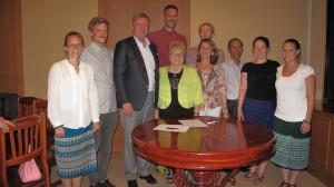 Team I der Pädagogischen Hochschule Karlsruhe mit der Stiftung Engel für Kinder