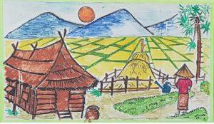 MEIN TRAUM Ich lebe in einem kleinen Haus in einem Dorf zusammen mit meinen Eltern. Meine Eltern sind Bauern und Gärtner. Unser Haus ist in der Nähe unseres Feldes, das von drei Bergen umgeben ist. Jeden Morgen stehe ich um sechs Uhr auf, um meiner Mutter beim Bewässern des Gartens zu helfen. Danach mache ich mich auf den Weg in die Schule. Wenn ich von der Schule nach Hause komme, helfe ich meiner Mutter bei der Hausarbeit und wir gießen nochmals den Garten. Dies sind meine täglichen Aufgaben. Ich bin sehr glücklich mit meinem Leben. Wenn ich groß bin, möchte ich Arzt werden, um mich um meine Eltern und andere Menschen zu kümmern. Das ist mein Traum für die Zukunft.